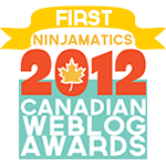 2012 Canadian Weblog Awards First Place