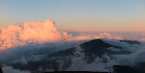 Haleakala Volcano in the clouds