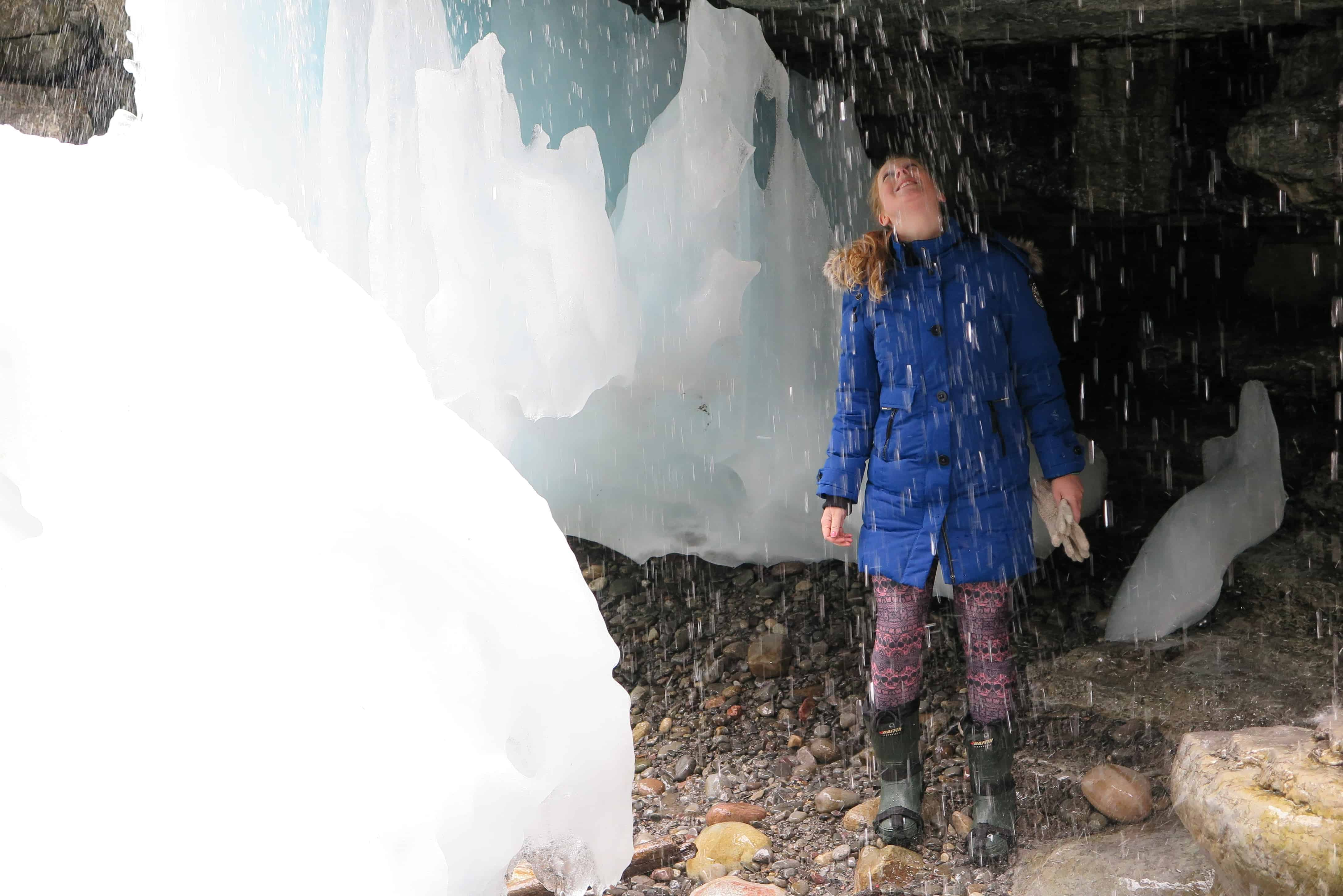 Candice in the ice canyon